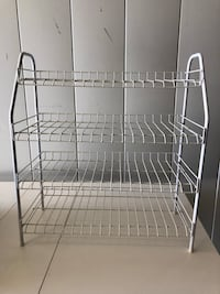 White Metal 4-Shelf Rack Arlington, 22204
