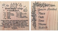 "2 large wooden craft stamps (3""x3"") Port Saint Lucie, 34986"