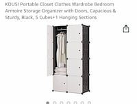 Clothes storage. Buildable cubes and hanging clothes. Armoire. Storage. Dresser   Chicago, 60613