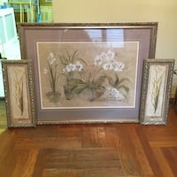 brown wooden framed painting of white flowers New York, 10461