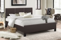 UPHOLSTERED BED IN ESPRESSO Toronto