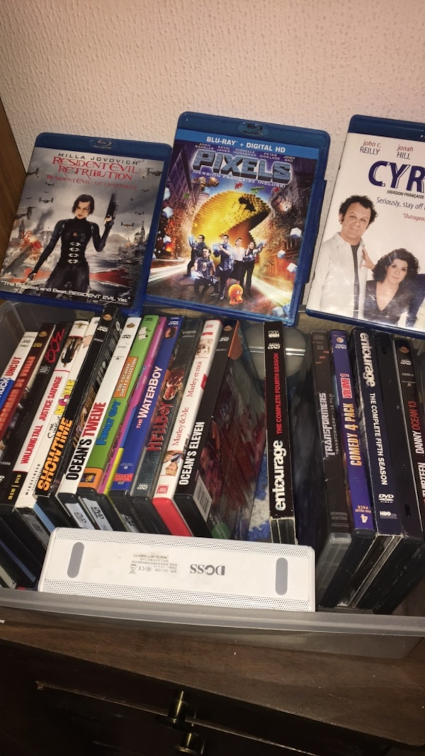assorted-title DVD case lot
