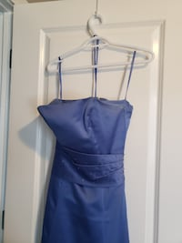 beautiful blue dress, for grad or party, strapless with optional shawl, size 8, bought from Ethos Bridal, Nu Mode brand  Calgary
