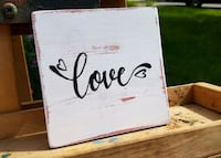 """""""Love"""" Hand-painted wooden sign home decor Toronto, M1M 2E1"""