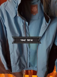 Blå Slit ut zip-up windbreaker غوتنبرغ, 424 32