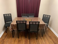 Metal Dining Table Set with Six chairs Mississauga, L5J