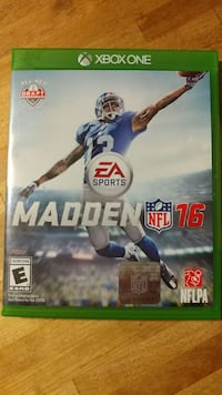 Xbox One Madden NFL 16 game case Ashtabula, 44004