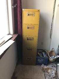 2 each 5 drawer letter size file cabinets
