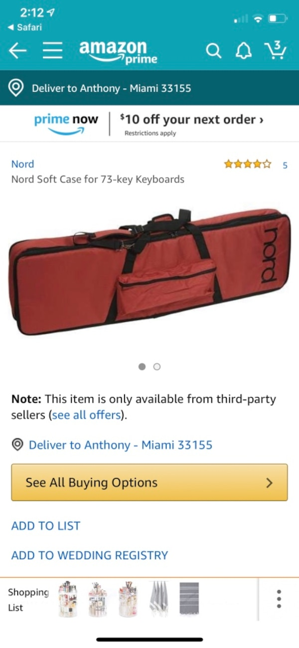 Nord Electro keyboard soft case