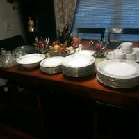 China set Crystal cups with plates gold plate everything for 40 Old Town Manassas, 20109