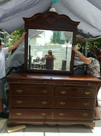 brown wooden dresser with mirror Los Angeles, 90026
