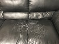 Black leather 3-seat sofa Barrie, L4M 5Z9