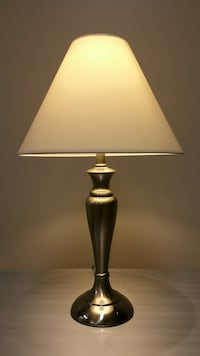 DECORATOR POLISHED STAINLESS LAMP (please view all photos) Arlington, 22204