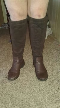 Brown knee high boots size 10 Delta, 43515