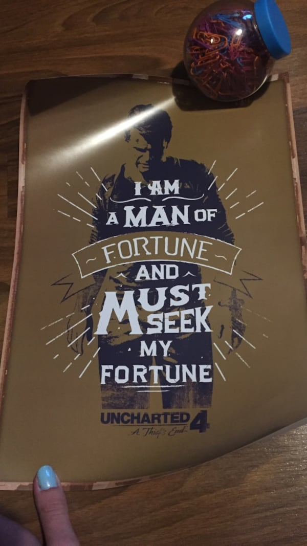 Used Uncharted 4 Poster For Sale In Lewiston Letgo