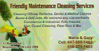 Friendly Maintance Cleaning Services - 25 Years Of Experience
