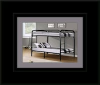 Twin bunkbed frame with 2 mattress 46 km