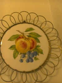 round white,green and purple fruit print wall decor Kingston