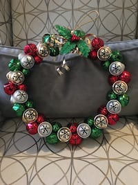 Beautiful metal wreath with bells that jingle
