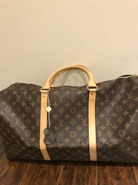 brown Louis Vuitton Monogram leather tote bag