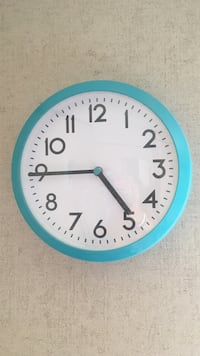 teal wall clock  Wolfforth, 79382