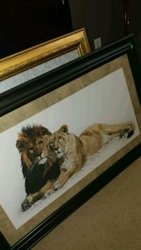 lion and lioness painting Hiram, 30141