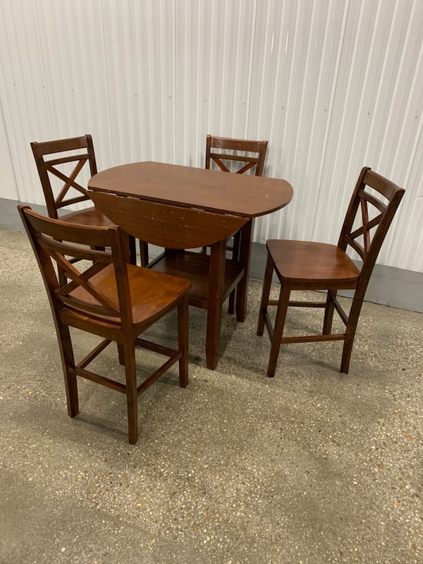 Wooden 5pc counter height dinning set 0