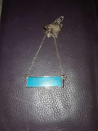 18k gold and turquoise necklace  Roswell