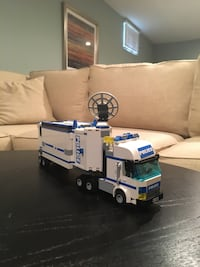 white Police freight truck toy Great Falls