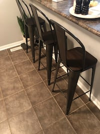 Four bar stools 30 inches off the ground. Bolton, L7E 2Z5