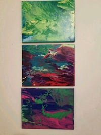 Abstract canvas paintings $30 each Evansville, 53536