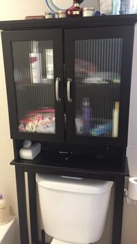 Black wooden cabinet with mirror Toronto, M5V 0E5