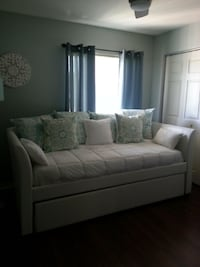 White Leather Daybed Sofa with Store Away Drawer or for Additional Twin Mattress Ocala, 34476