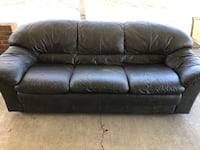 Dark grey leather couch Dumfries, 22026