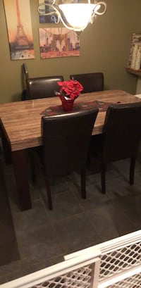 rectangular brown wooden table with six chairs dining set Richmond Hill, L4E 3Z7