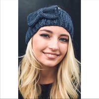 women's blue knitted beanie Peoria, 85345