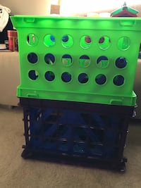Crates (3-green, black and purple) $5ea Germantown, 20876