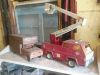 Old toy trucks