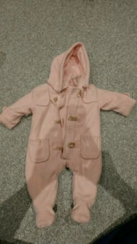 baby's pink footie pajama, size 3m