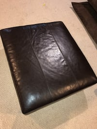 West Elm Dark brown leather ottoman Germantown, 20874