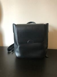 Black faux leather backpack Toronto