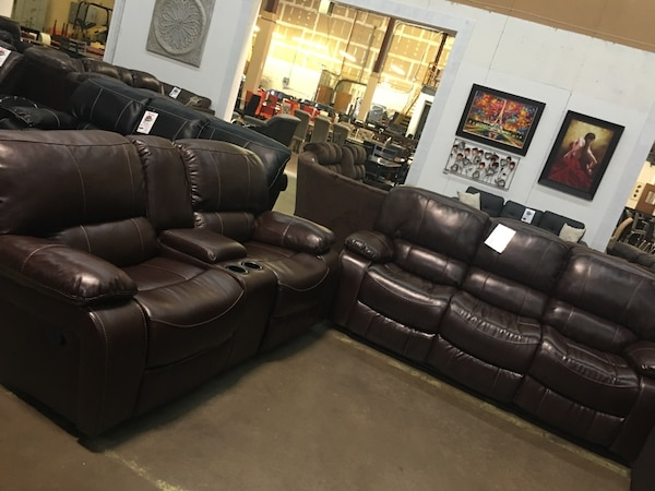 Bonded Leather Reclining Sofa And Love Seat 40 Genuine Leather