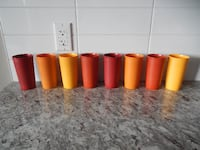 *Vintage* Tupperware Tumbler Cups. Some surface marks/wear. Display great, or great to use. $20 for the set PU Morinville
