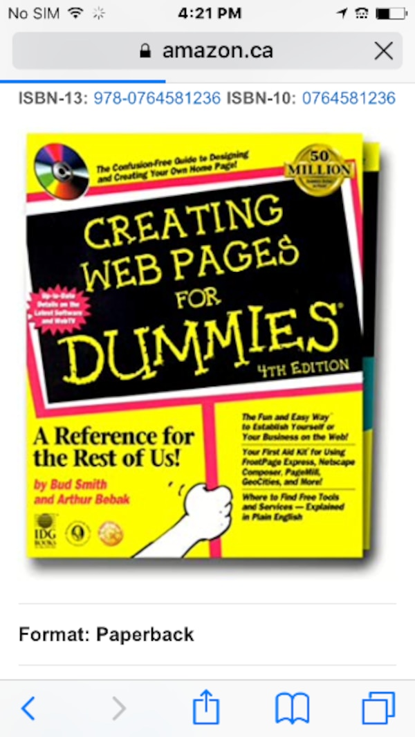 Creating web pages for Dummies 1