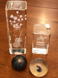 "Decor Pieces, 6"", 3"", 1.5"", 1"" Pick up only Whitchurch-Stouffville"