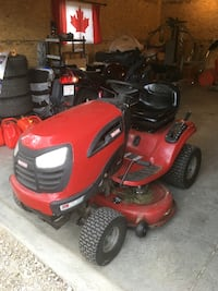 red and black riding mower null