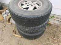 gray 5-spoke car wheel with tire set Pacific, 98047