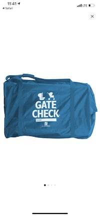 Gate check stroller and car seat bag