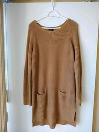 women's brown long sleeve knitted dress Toronto, M4Y