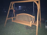 Wooden Swing w/ End Tables  Schenectady, 12306